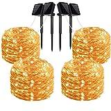 LiyuanQ Solar String Lights, 4 Pack 100 LED Solar Fairy Lights 33 Feet...