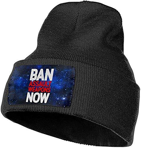 Peeeenny Beeen Los Hombres y Las Mujeres prohíben Las Armas de Asalto Ahora Sombrero de Gorros de Punto de Moda al Aire Libre Gorras de Punto de Invierno Suave