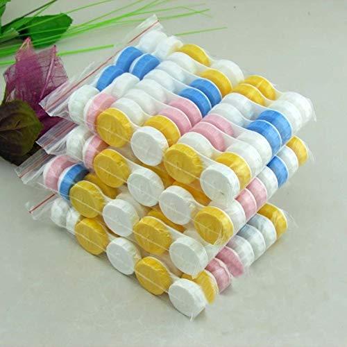 PPuujia Estuche de lentes de contacto 20 unids/lote Simple caja de lentes de contacto Accesorios para gafas Lindo caja de viaje Contenedor para lentes de color al azar al por mayor (color: multicolor)