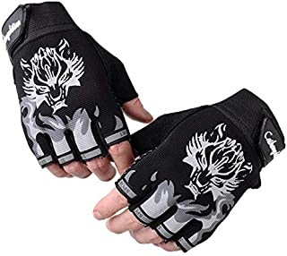 Men's Wrist Wrap Gloves for Cycling Gym Training Sports Fitness Weightlifting