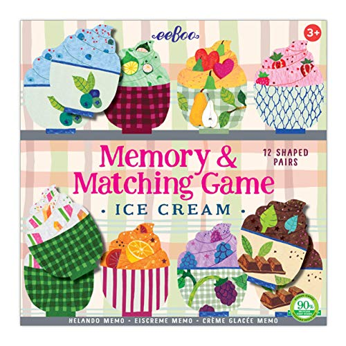 eeBoo Ice Cream Memory Matching Game for Kids (Toy)