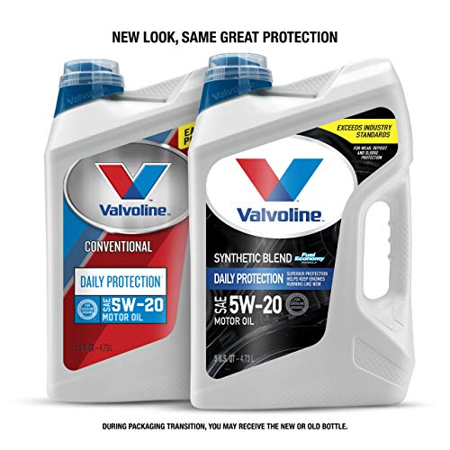 Valvoline  Daily Protection SAE 5W-20 Synthetic Blend Motor Oil 5 QT (New packaging)
