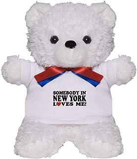 CafePress Somebody in New York Loves Me! Teddy Bear, Plush Stuffed Animal