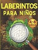 Laberintos para Niños: Juegos, Rompecabezas, Ejercicios de Lógica y Motricidad Fina | Libro de Actividades | Cuaderno para niños y niñas de 4 a 8 años | 5, 6, 7