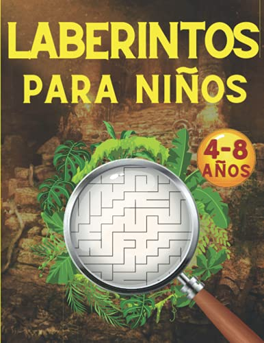 Laberintos para Niños: Juegos, Rompecabezas, Ejercicios de Lógica y Motricidad Fina   Libro de Actividades   Cuaderno para niños y niñas de 4 a 8 años   5, 6, 7