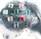 majo luju Strass Klammer Hair Haar Clip10 Stück Haarschmuck Steckfrisur Hochzeit Braut Kommunion Set