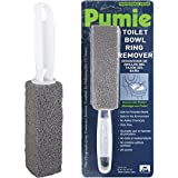 Pumie Toilet Bowl Ring Remover, TBR-6, Grey Pumice Stone with Handle, Removes Unsightly Toilet Rings, Stains from Toilets, Sinks, Tubs, Showers, Pools, Safe for Porcelain, 1 Pack