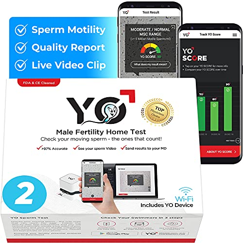 YO Home Sperm Test for MAC, Windows PC and Android Phones | Check Description for Compatibility | Includes 2 Tests | Men's Motile Sperm Fertility Test | Check Moving Sperm and Record Videos