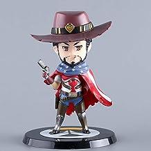 CJH Decoraciones Figura de acción Overwatch Jesse McCree Q.Ver Estrellas Modelo Popular de Dibujos Animados de Juguete de Regalo de OW Ordenadores muñeca Adornos