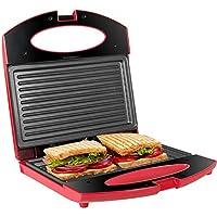 Gotoll Tostiera,Tostapane Piastra 750W,Sandwich/Panini Maker,Piastre con Rivestimento Antiaderente (rosa, 2 sandwich)