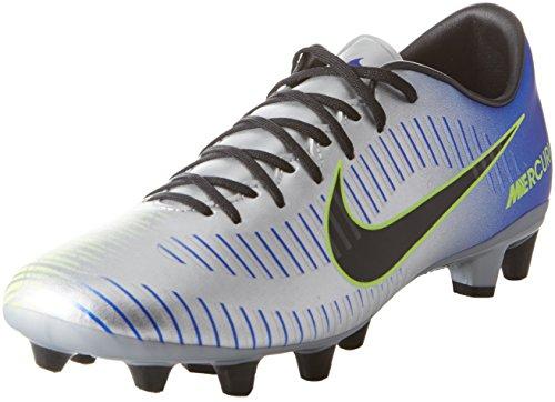 Nike Mercurial Victory Vi Neymar (AG), Zapatillas de Fútbol para Hombre, Multicolor (Racer Blue/Black-Chrome-Volt-Volt 407), 41 EU