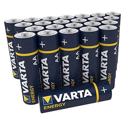 """Varta Pila Energy AA Mignon LR06 (paquete de 30 unidades), pila alcalina – """"Made in Germany"""" – Adecuado para radios y relojes de pared"""