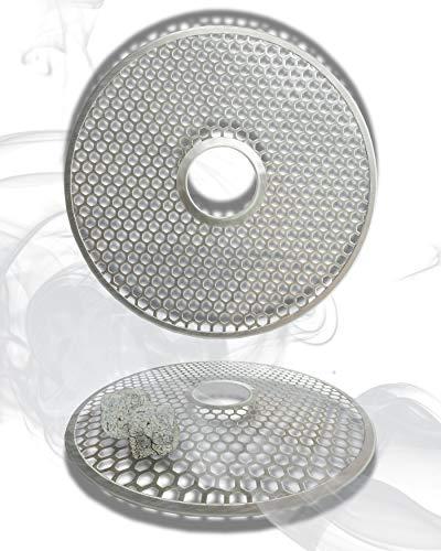 Rejilla de carbón para Shisha – Universal para Cualquier Shisha Habitual Gracias a la Apertura de 4 cm – Protección óptima para Platos de carbón y Bandeja para carbón de Shisha