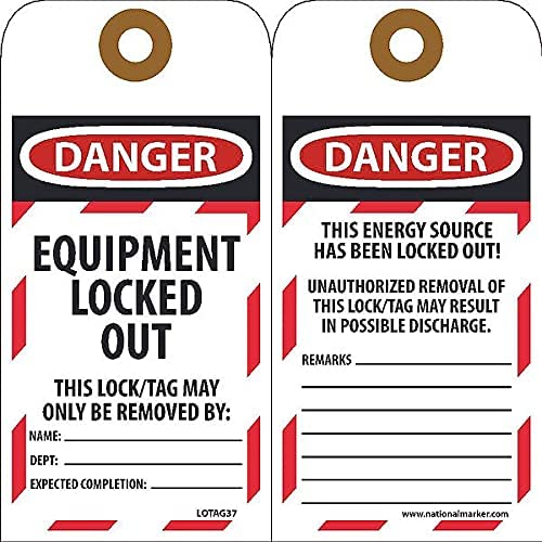 Nmc Equipment Lockout Tag outlet 3 Pack Pk25 Wholesale of