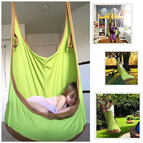 FEMOR Hamaca de Jardín Exterior Hamaca para Familia Interior Hamaca para Camping al Aire Libre Diseño (Elipse)