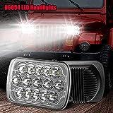 H6054 LED Headlights, Yuz 2PCS Rectangle 7x6 LED Headlights 5x7 Headlights 6054 H5054 Headlamp Hi/Low Sealed Beam Compatible with Chevy Blazer Express Van/Jeep Wrangler YJ XJ Cherokee Truck Ford Van