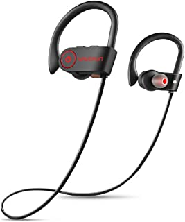 Wavefun - Cuffie Bluetooth IPX7, impermeabili, con bassi sportivi, auricolari Bluetooth