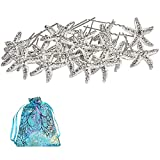 ANBALA 18 Pack Bride Crystal Rhinestone Starfish Hair Pins Headwear Headdress Decorated Jewelry for Beach Party, Wedding, Beach Hairpin Hair Accessories for Women Girls, Comes with a Gift Bag