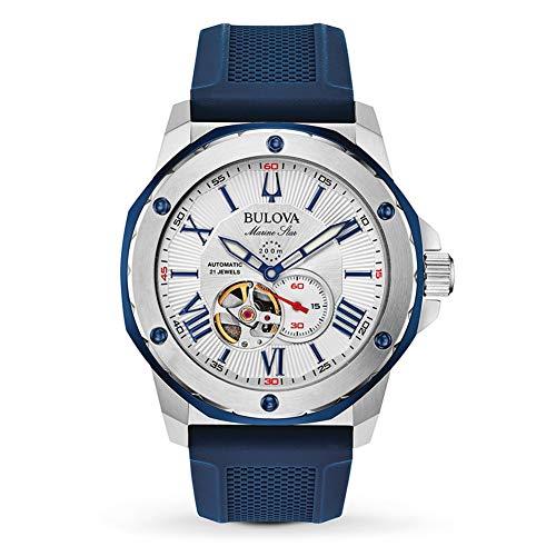 Bulova Herren Analog Automatik Uhr mit Silikon Armband 98A225