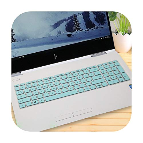 15.6 inch Laptop Keyboard Cover Protector for HP Pavilion Power Gaming 15 CX Series 15-cx0100tx 15-cx0099tx 15-cx0147tx 15-cx-whiteblue-