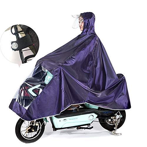 SHUAHNX Poncho Impermeable Impermeable Doble Sombrero Bicicleta Impermeable Bicicleta de montaña Poncho...