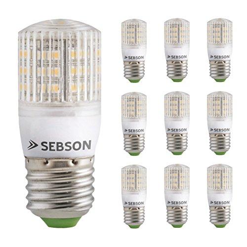 SEBSON 10 x E27 3W Lampadina LED (pari a 25W), 240 lumen, bianco caldo, LED SMD, angolo di diffusione di 160°