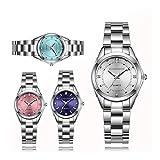 Gözəl Las Mujeres del Rhinestone Cuarzo del Acero Inoxidable señoras de los Relojes Negocios Reloj japonés Movimiento de Cuarzo Reloj Relogio Femenino