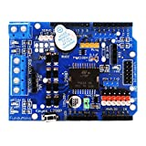HiLetgo L298P モータードライバーモジュールArduino UNO R3シールドL298PモーターシールドHブリッジドライブシールド拡張ボードハイパワーDCステッパーモーターコントローラー