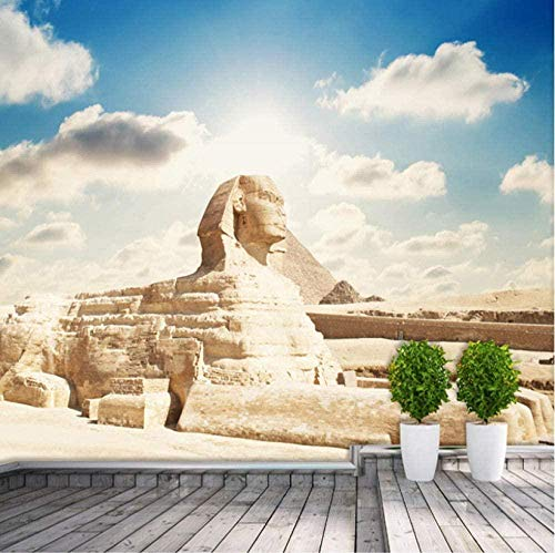 Custom Photo Wallpaper 3D Classic Egyptian Sphinx Large Wall Living Room Bedroom Office TV Background Wallpaper Home Decoration-300x210cm
