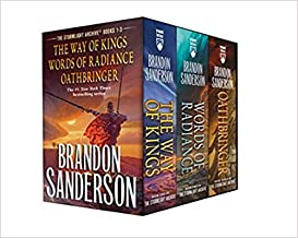 Stormlight Archive MM Boxed Set I Books 1-3 The Way of Kings Words of Radiance Oathbringer The Stormlight Archive Paperbac...