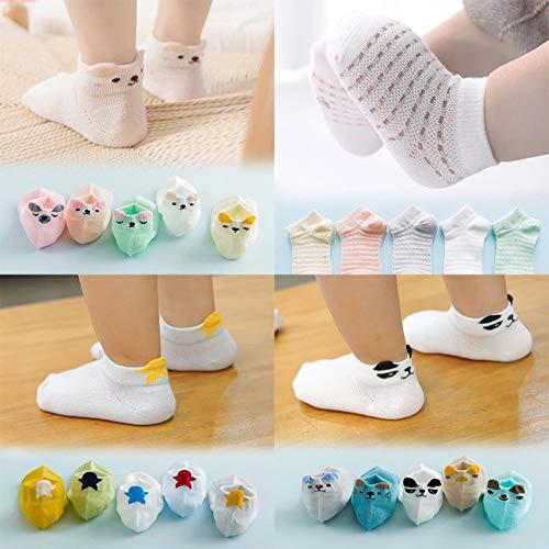 MIWNXM 10 Pares Summer Mesh Socks For Newborns Baby Cute Cartoon Socks For Girls Thin Soft Cotton Boy Child Socks Infants