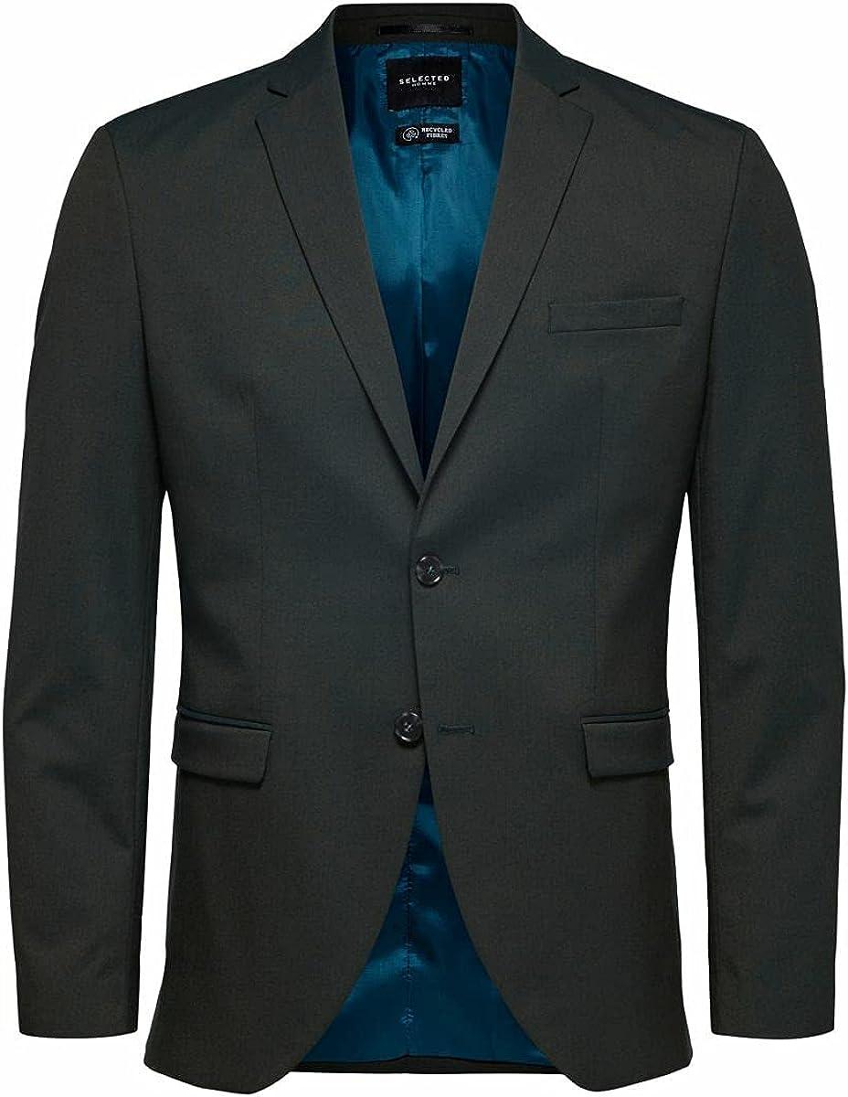 SELECTED HOMME Slhslim-mylologan Green Blazer B Noos Chaqueta de Traje para Hombre