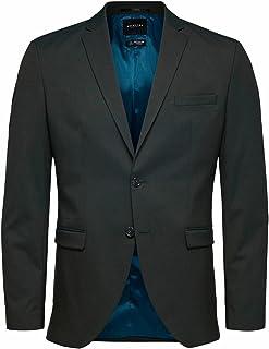 Selected Men's Slhslim-mylologan Green Blazer B Noos Suit Jackets