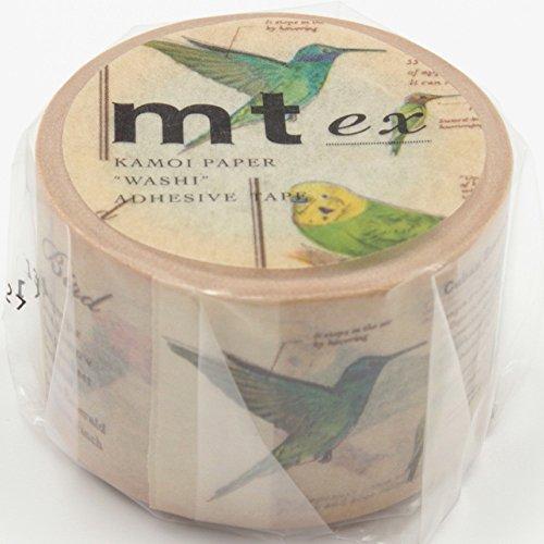 MT Ex serie papel Washi cinta de carrocero, 1–1/5'x 33', Bird (mtex1p90)