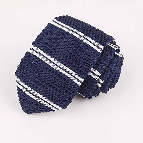 LXTMWSJ Krawatte Herren Strick Krawatte 7Cm Spitz Krawatte Krawatten Formelle Kleidung Accessoires Hochzeitsfeier Bankett Gestrickte Herren Krawatte Papas Geschenk Krawatte