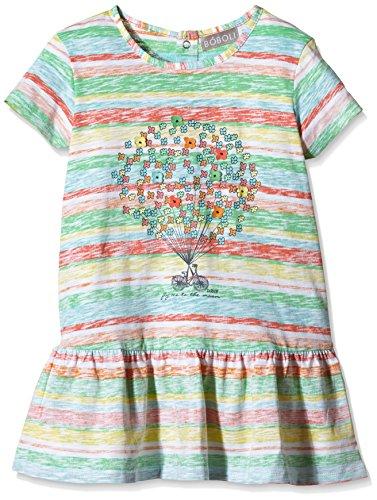 boboli Baby - Mädchen Kleid KNIT DRESS, Gr. 68 (Herstellergröße: 6M), Mehrfarbig (STRIPES 9188)