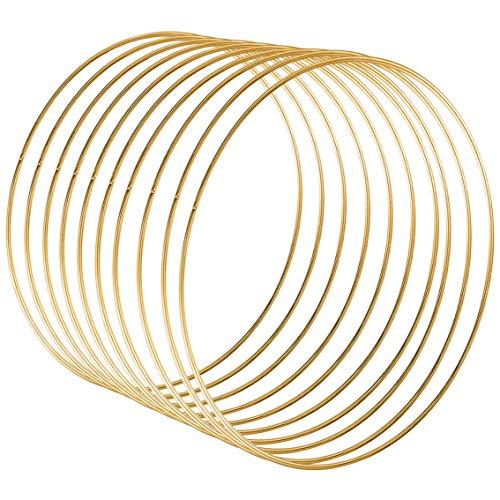 Sntieecr 10 Pezzi 30 cm Anelli a Cerchio in Metallo di Ghirlande per Ghirlande Nuziali Decorazioni