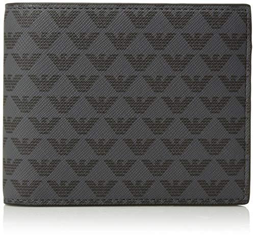 Emporio Armani Herren Bifold Wallet Geldbörse, schwarz, Einheitsgröße