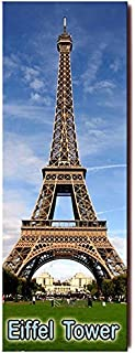PANORAMA FRIDGE MAGNET of THE EIFFEL TOWER BY NIGHT