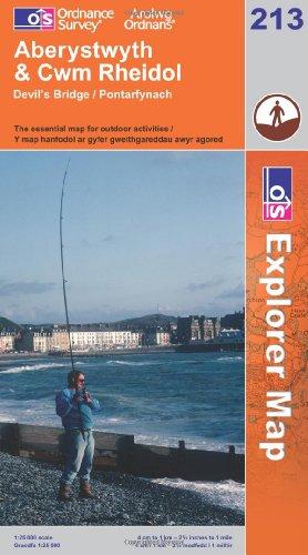 OS Explorer map 213 : Aberystwyth & Cwm Rheidol