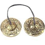 2.6in / 6.5 cm Artesanal meditación tibetana platillo Campana de Cobre crujiente Sonido Budista Templo Instrumento de percusión(#3)