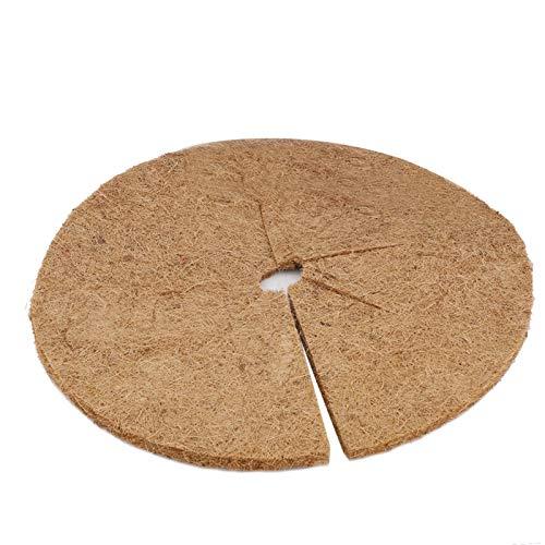 Metikkeer 30 szt. mata barierowa na chwasty kokosowe, naturalne włókna kokosowe blok do chwastów mulcz drzewo mata osłona okrągła tłumiąca chwasty membrana do ogrodu balkonu osłona drzew 20 cm/7,9 cala