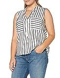 Vero Moda Vmerika S/l Stripe Shirt Noos Camisa Cami, Blanco como La Nieve, XL para Mujer