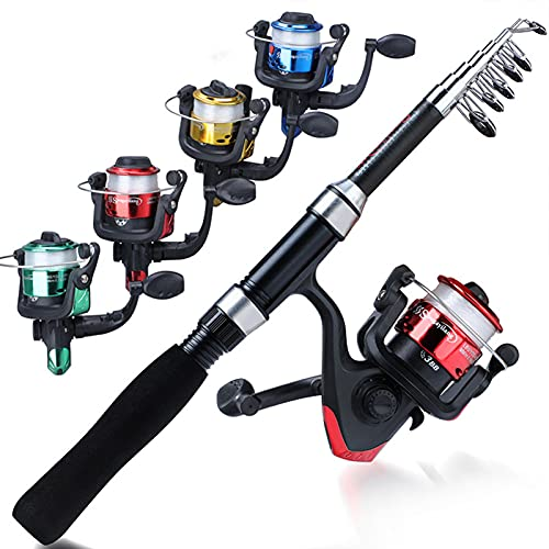 HAPPY-HAT Carbon Fiber Telescopic Fishing Rod Reel Ultra Light Durable Comfortable Non-Slip Handle Reel Combination Set Essential Accessories for Brackish Freshwater Fishing The Best Gift for Anglers