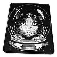 マウスパッド スペース 猫 滑り止め ゲーミング 耐摩耗性 高耐久性 疲労低減 洗える 人気 オフィス/ゲーム/パソコンなどに適用 (4サイズを選択可能)
