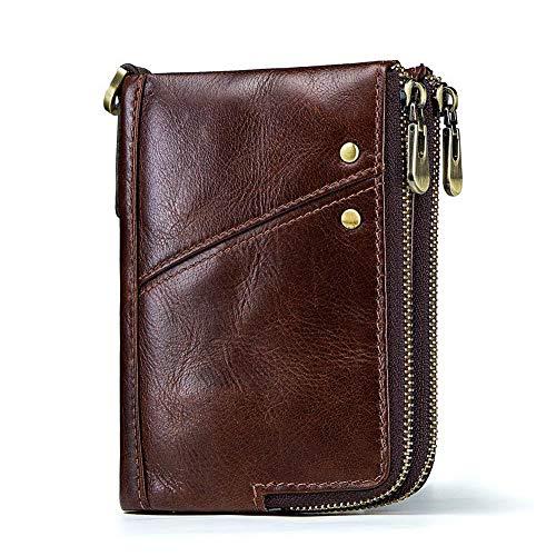 Heren Portemonnee Lederen Ontwerp RFID-blokkering | Credit Card Houder | Minimalistische Mini Bifold Money Clip