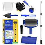 Paint Roller Kit, Paint Rollers for Painting Walls, Paint Edger Tool for High Ceilings, Painting Supplies for Home Improvement, Paint Roller Extension Pole,Telescoping Poles (Blue)