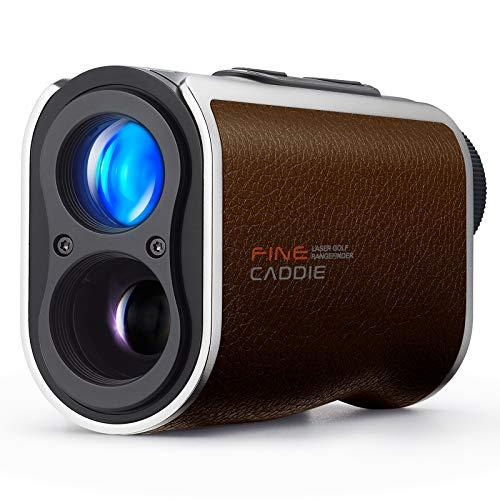 FineCaddie(ファインキャディ)J300プレミアムBrownゴルフ距離計レーザー距離計充電式1,093yd測定距離測定器高低差測定スロープモードON/OFF可能PUレザー防水IPX4防水超軽量6倍率広視野角ケース付き保証2年メーカー直営FineCaddie