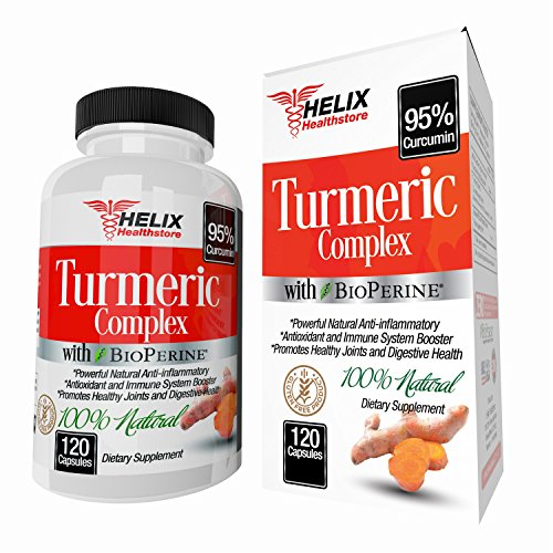 Turmeric Curcumin with BioPerine 1500mg - 120 Turmeric Capsules with Black Pepper Extract and Made with Organic Turmeric Powder - Best Natural Anti Inflammatory Supplement and Joint Pain Relief Pills