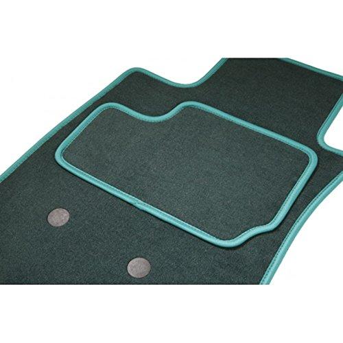 Teppich Auto eTile passgenau für Golf 3Coupé VR6(von 08.91–12.97)–1Premiumqualität–Grün–Teppich Tuft, L Aspekt Velours, 550g/m2+ SS Schicht 1950G/M2+ Band Textil High-End